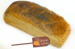 Chleb foremka z makiem